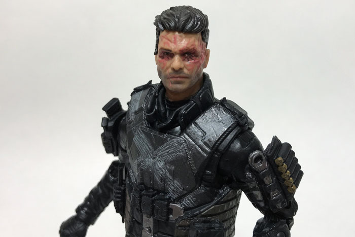 Marvel Legends Crossbones with unmasked head.