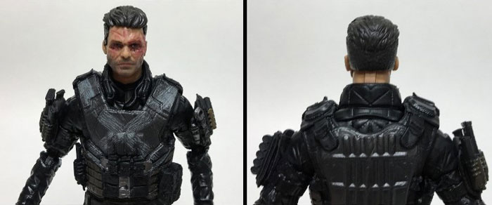 Crossbones front and back (unmasked head).