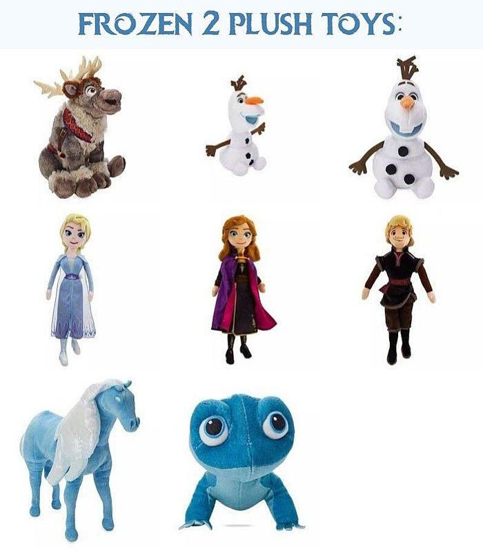 Disney Frozen 2 Plush Toys.