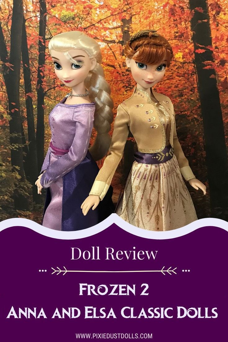 Doll Review: Frozen 2 Anna and Elsa classic doll set from shopDisney.