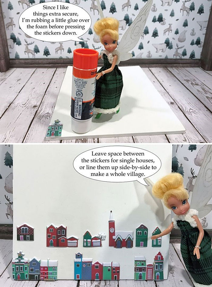 DIY Miniature Christmas Village Graphic 3.