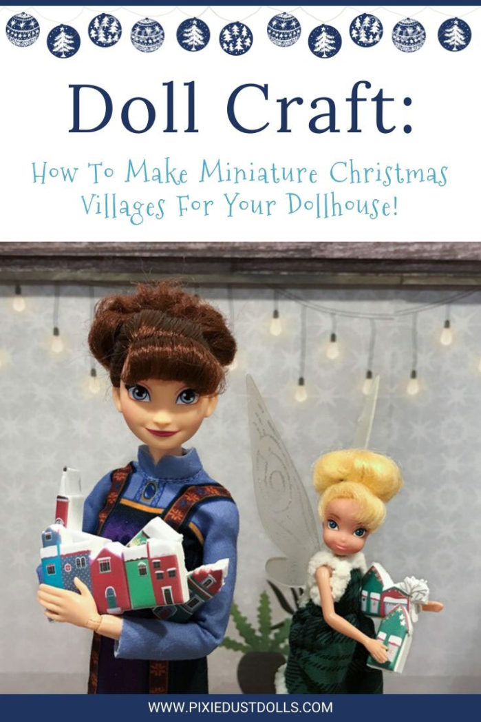 How To Make Miniature Christmas Villages For Your Dollhouse!