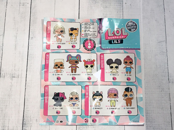 L.O.L Surprise Lils Winter Disco Collector's Guide.