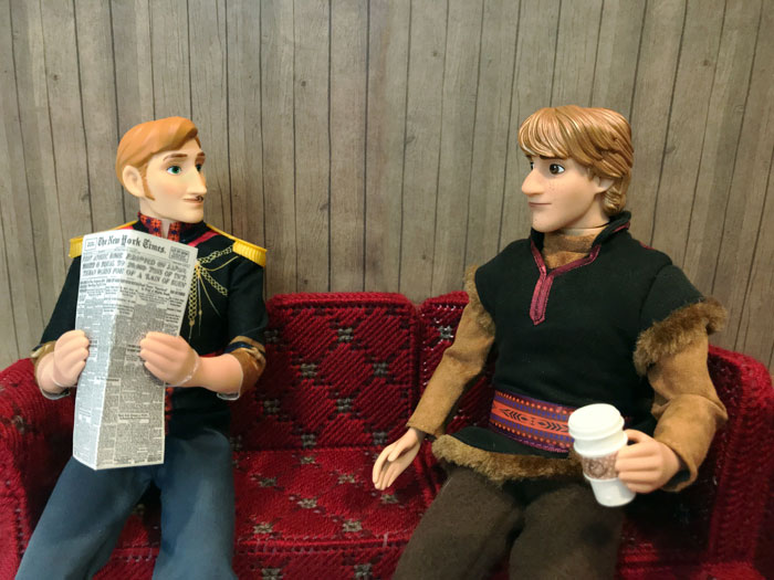 Frozen 2 Dolls: King Agnarr and Kristoff.