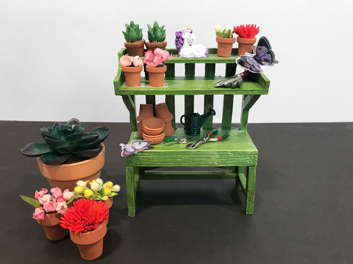Miniature potting bench.