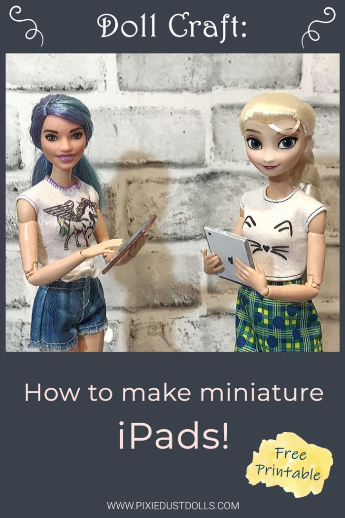 How to make miniature iPads for your dolls! (Plus free printable!)