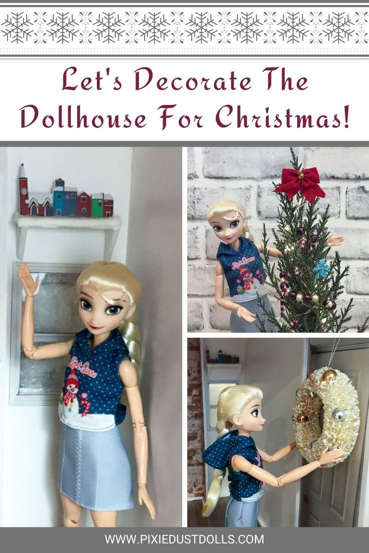 Let's decorate our dollhouse for Christmas!