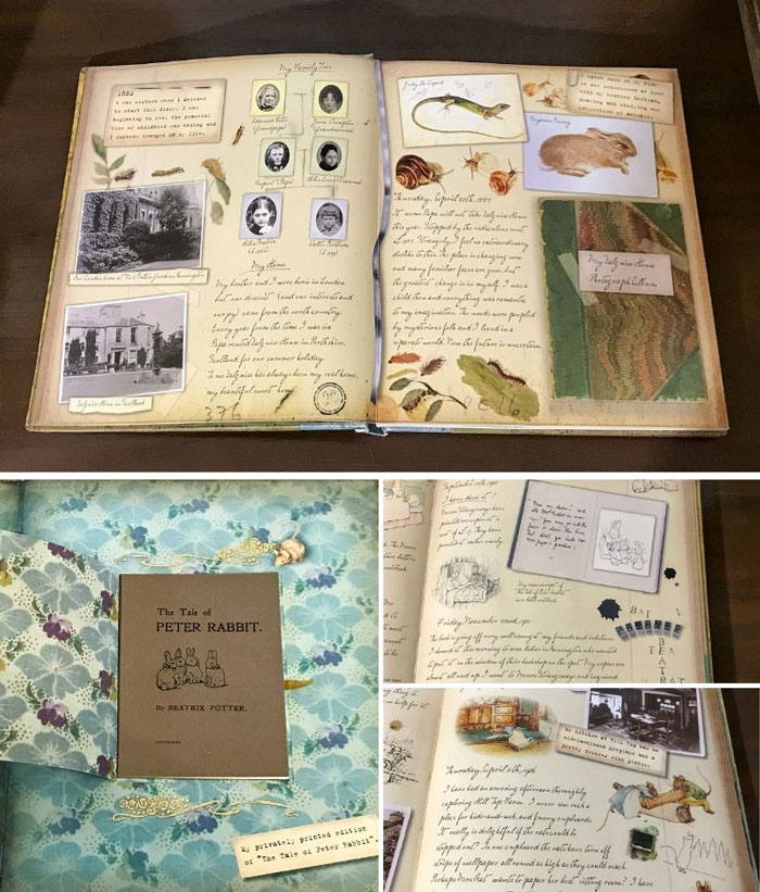 A peek inside the Beatrix Potter journal.