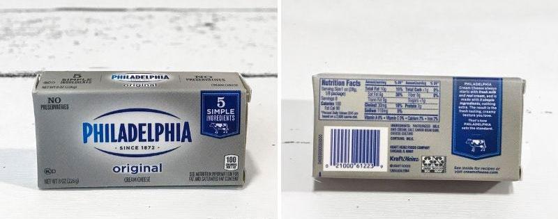 5 Surprise Mini Brands Series 2: Philadelphia Cream Cheese.