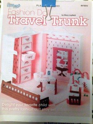 Plastic Canvas Doll Travel Trunk Pattern.