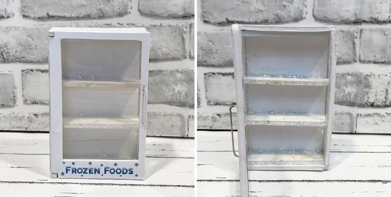 Mini Freezer For Doll Grocery Store.