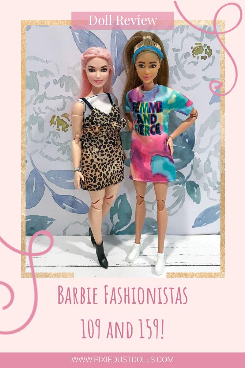Doll Review: Barbie Fashionistas 109 and 159! www.pixiedustdolls.com