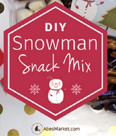 DIY Snowman Snack Mix from Abe's Market and Pixiespocket.com