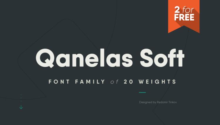 Qanelas Soft Typface