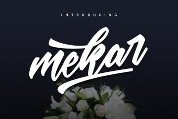 Mekar-Script-free-font