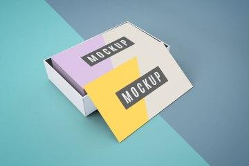 Business Card Mockup In Binder Clip