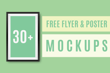 free Flyer and posters PSD mockups