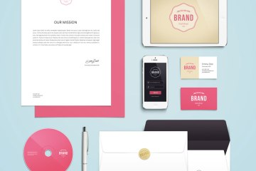 Freebie Branding Identity Mock-Up Download