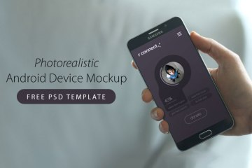 Photorealistic Android Device Mockup