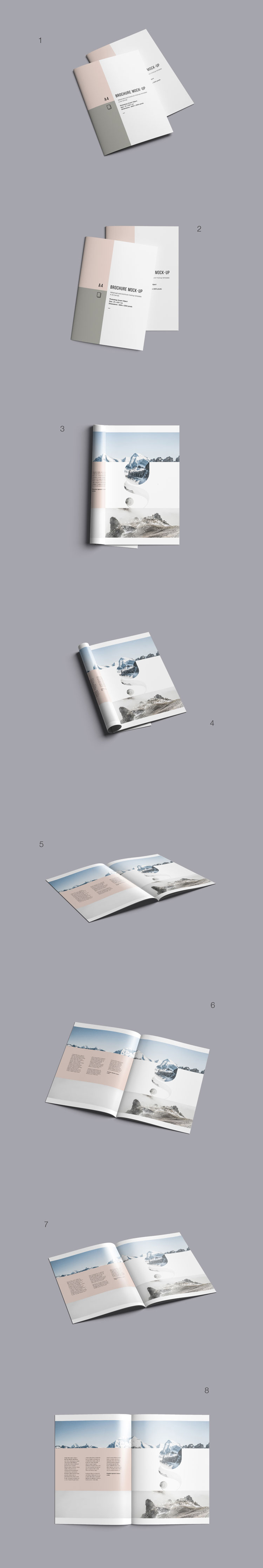 Free Advance A4 Brochure Mockup