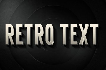 3D Retro PSD Layer Style text effect