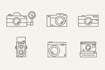 Photography Camera Free Icon Set
