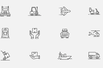 12 Free Logistic Transportation Vector Icons