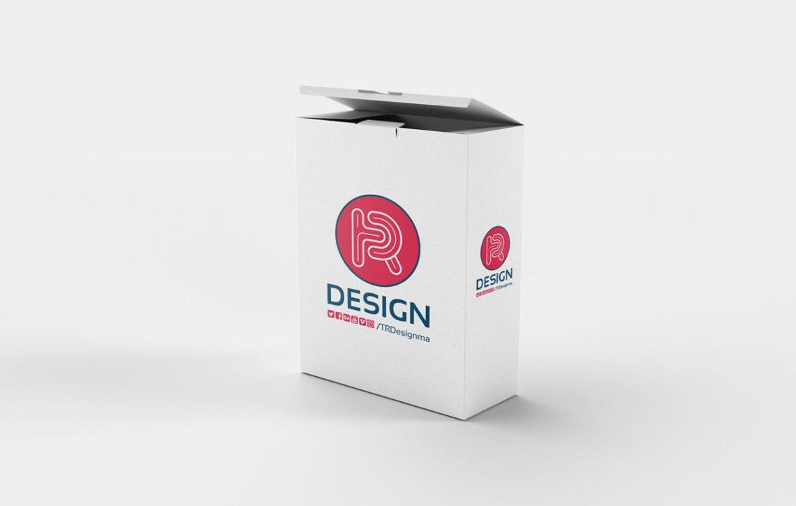 Download Free Realistic Box PSD Mockup   Pixlov