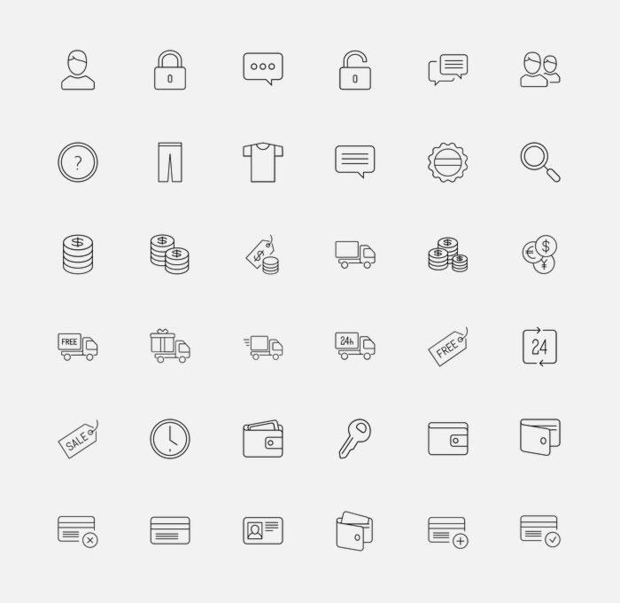 e-Commerce Icons by Anton Scherbik