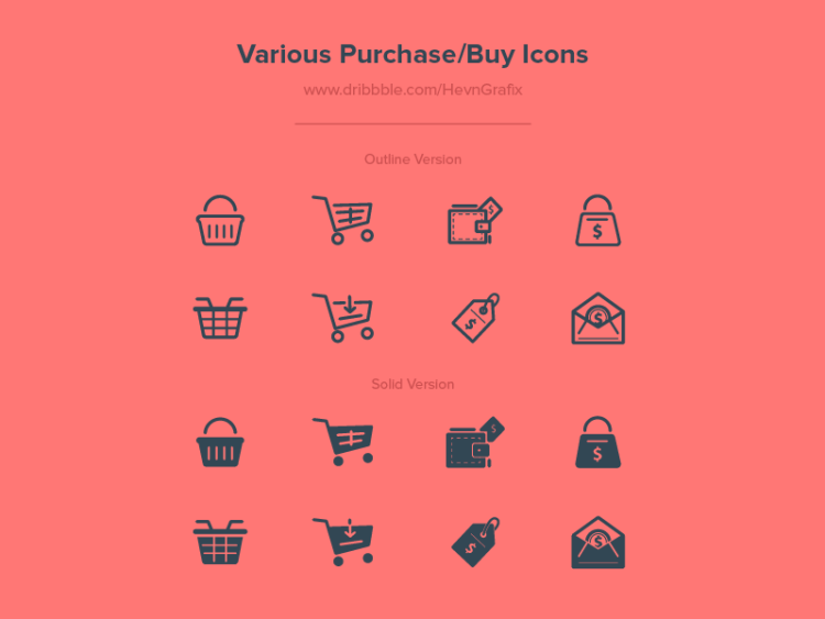 Various Purchase/Buy Icons