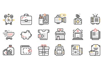 30 Free Web Design Line Icons