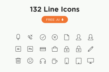 132 Free Line Vector Icons