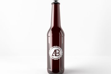 Realistic Beer Bottle Free Mockup