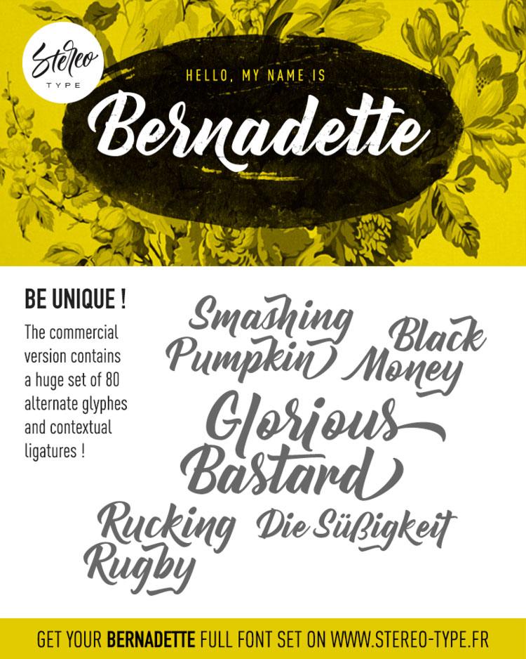 Bernadette Free Script Font
