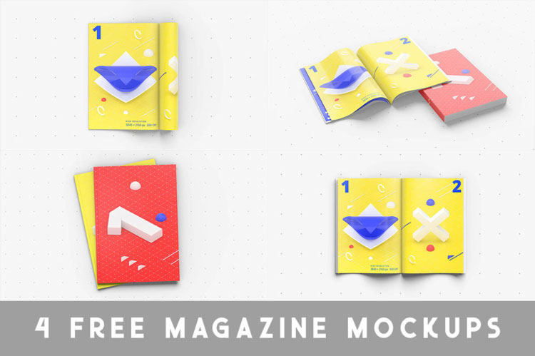 4 Free Magazine Mockups