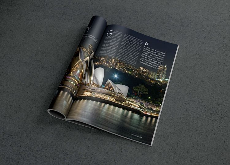 Photorealistic Magazine MockUp