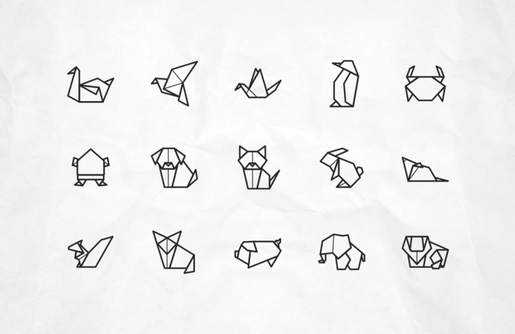 Origami Animal Free Vector Icons