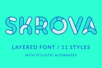 Skrova Layered Free Font