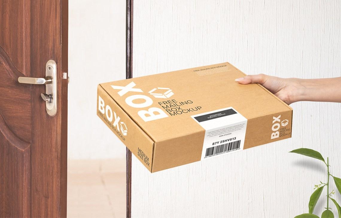Download Free Mailing Box Mockup | Shipping Mailing Box Mock up ...