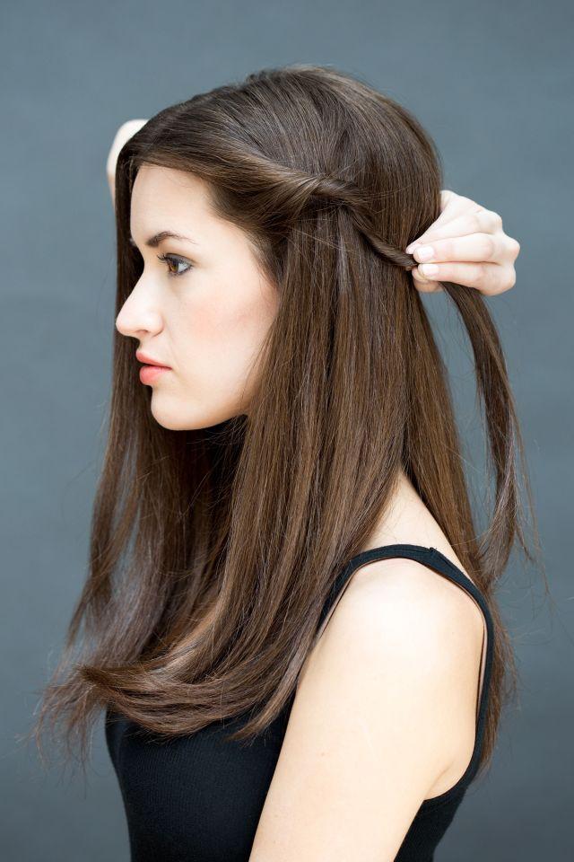 women twist back hairstyle