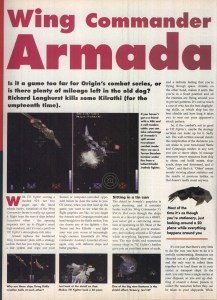 Wing Commander Armada Review - PC Format Page 1