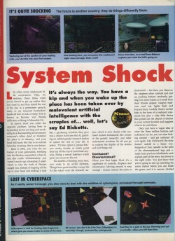System Shock Review - PC Format Page 1