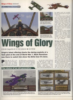 Wings Of Glory Review - PC Format Page 1