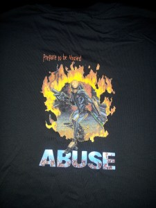 Abuse T Shirt Back