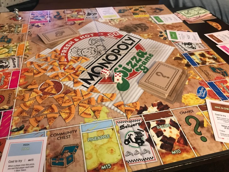 Monopoly Pizza Board Game New Edition