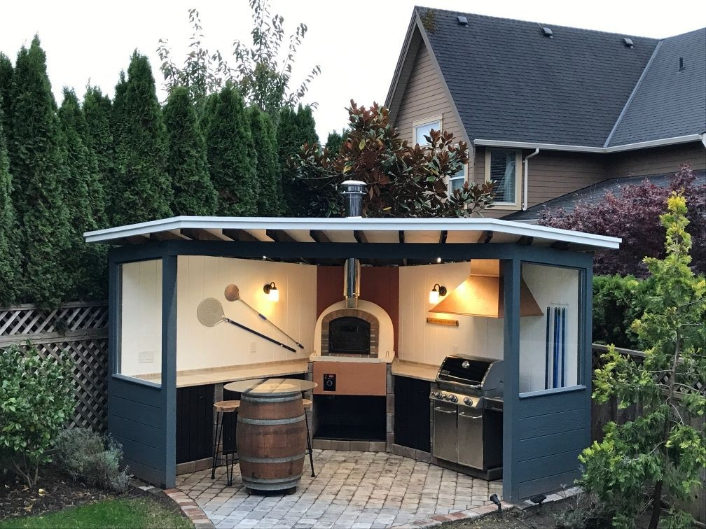 Brick Pizza Oven, Wood Fired, Outdoor on Outdoor Patio With Pizza Oven  id=61678