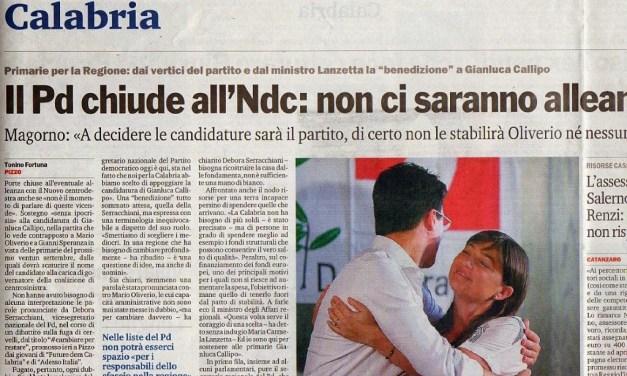10 Agosto 2014 Il PD chiude all'NCD: non ci saranno alleanze.