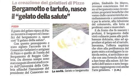 Bergamotto e tartufo, nasce il gelato della salute