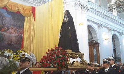 Pizzo. Pasqua 2017. Chiesa di San Giorgio. La chiamata della Madonna Addolorata.