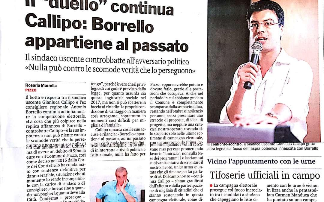 Il duello continua Callipo: Borrello appartiene al passato.